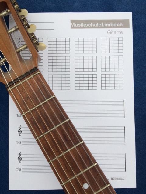Vorlage Gitarre
